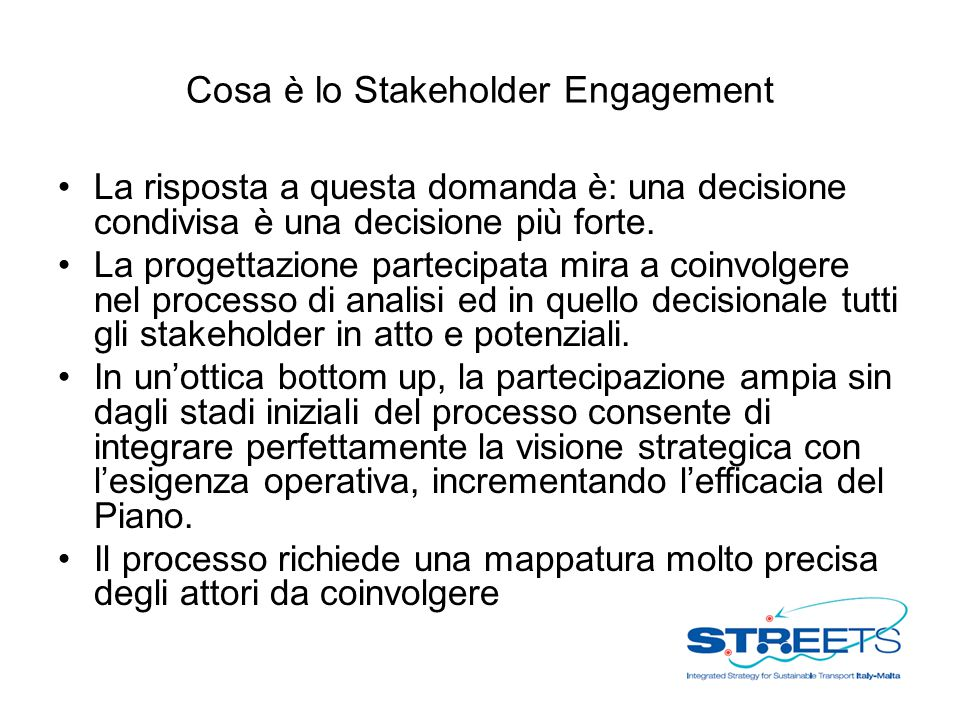 Cosa è lo Stakeholder Engagement