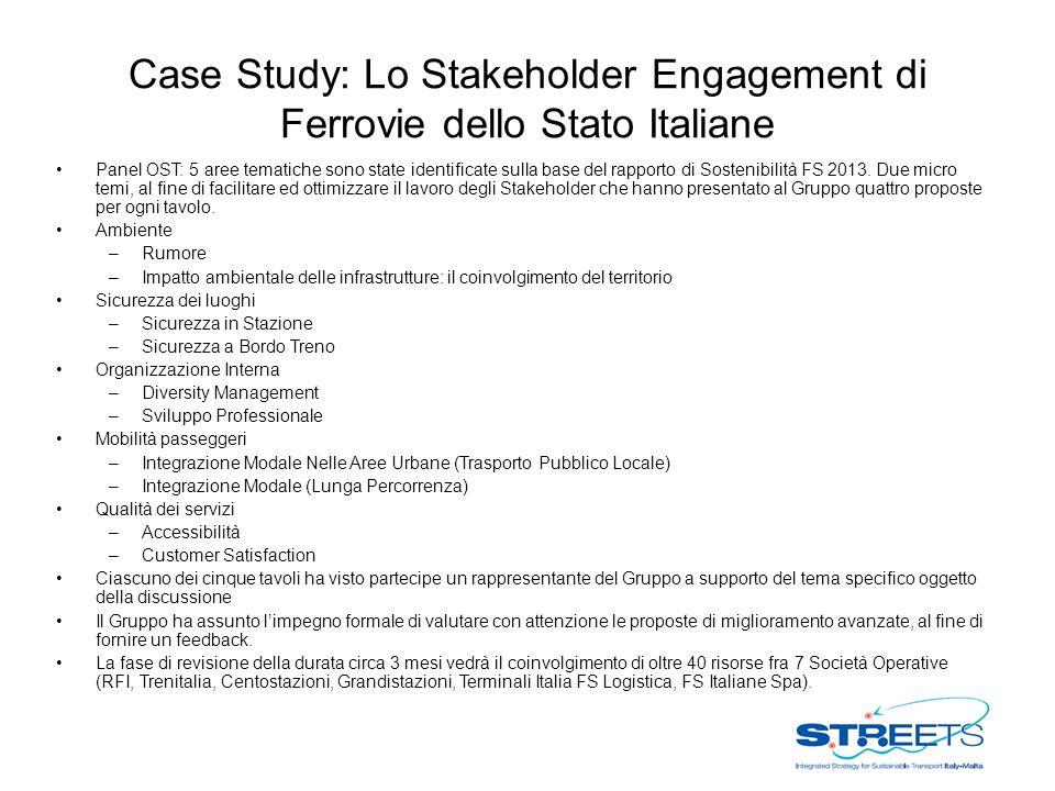 Case Study: Lo Stakeholder Engagement di Ferrovie dello Stato Italiane