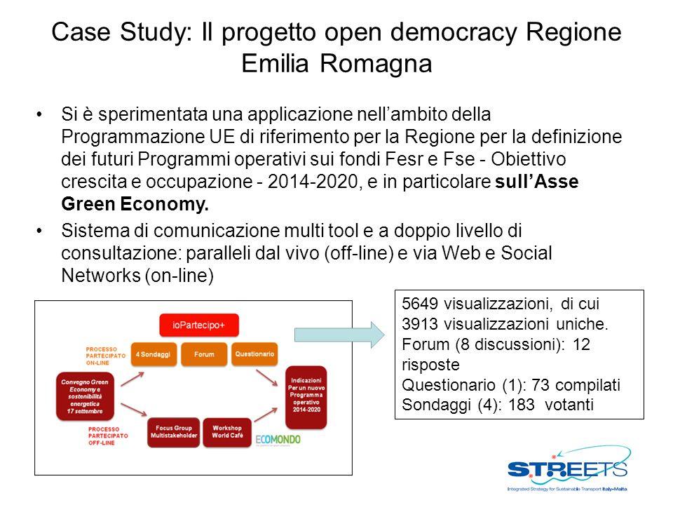 Case Study: Il progetto open democracy Regione Emilia Romagna