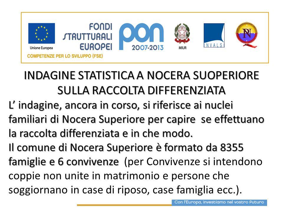 INDAGINE STATISTICA A NOCERA SUOPERIORE SULLA RACCOLTA DIFFERENZIATA
