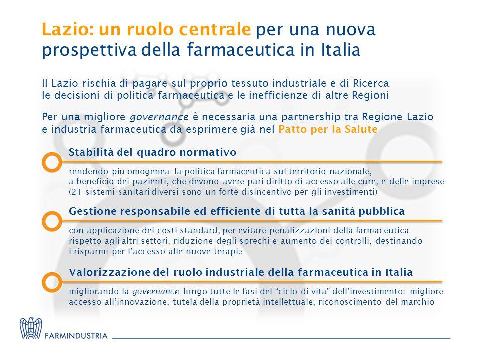 Lazio: un ruolo centrale per una nuova prospettiva della farmaceutica in Italia