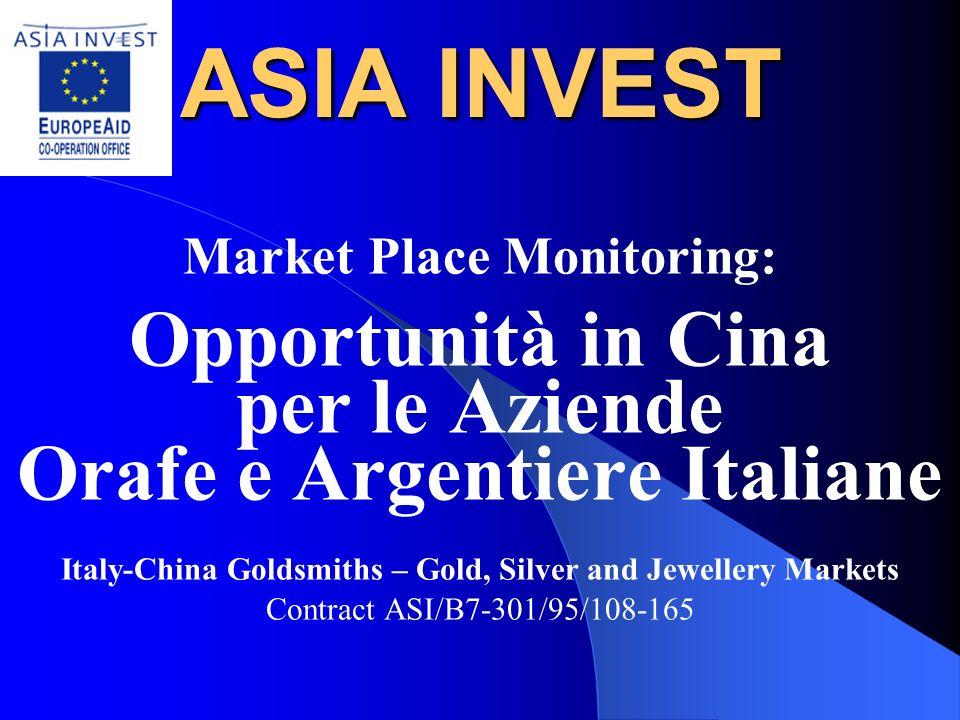 Market Place Monitoring: Orafe e Argentiere Italiane
