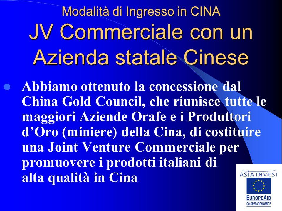 ASIA INVEST - Opportunità in Cina per le Aziende Orafe e Argentiere Italiane