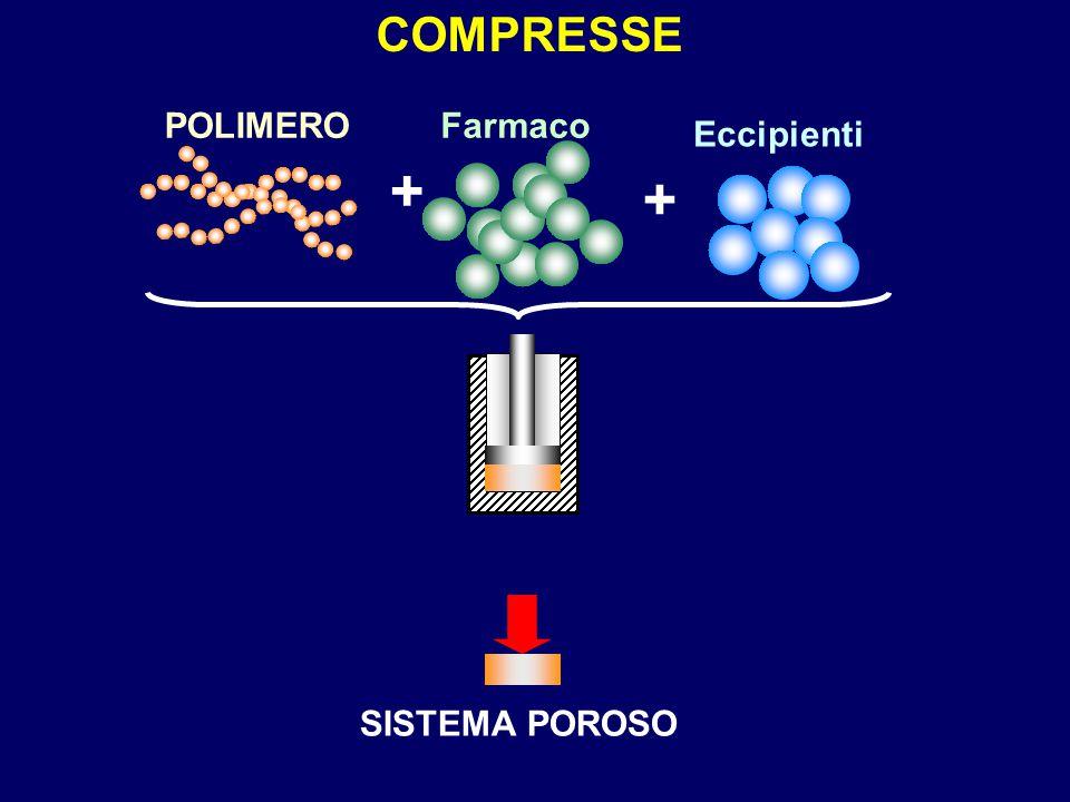 COMPRESSE POLIMERO + Farmaco Eccipienti SISTEMA POROSO
