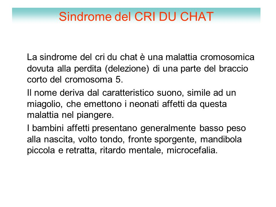 Sindrome del CRI DU CHAT