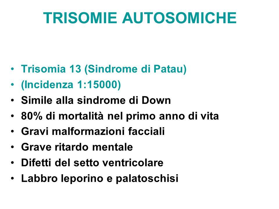 TRISOMIE AUTOSOMICHE Trisomia 13 (Sindrome di Patau)