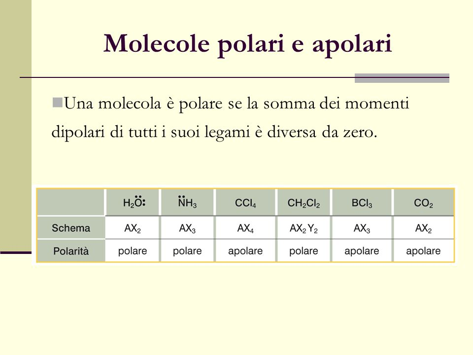 Molecole polari e apolari