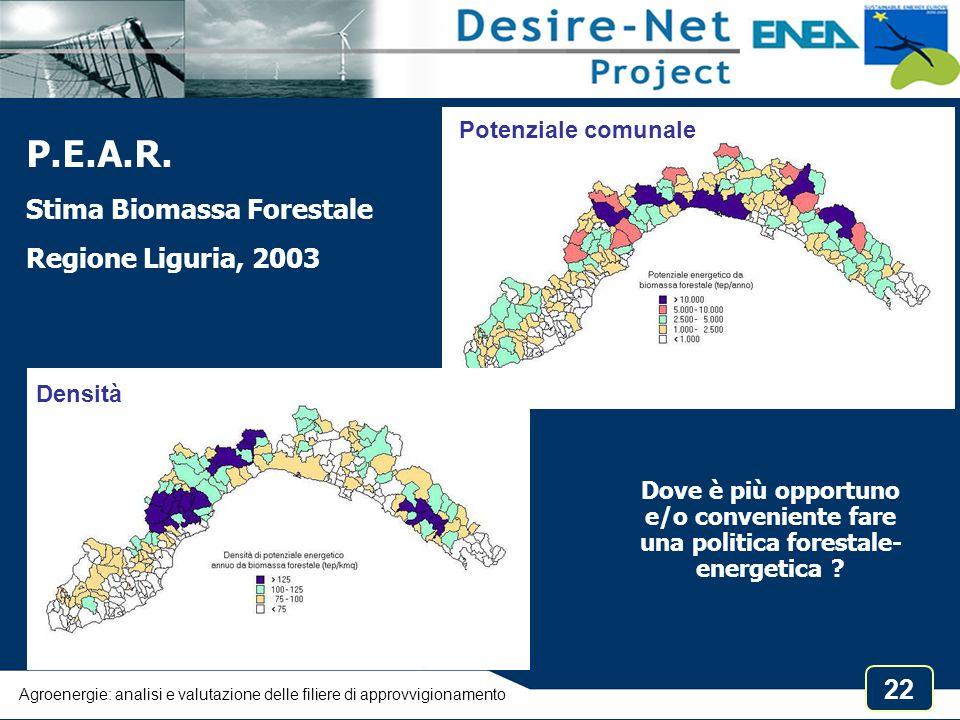 P.E.A.R. Stima Biomassa Forestale Regione Liguria, 2003