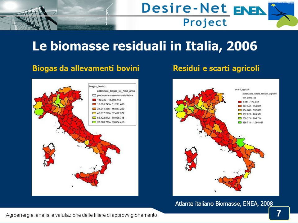 Atlante italiano Biomasse, ENEA, 2008