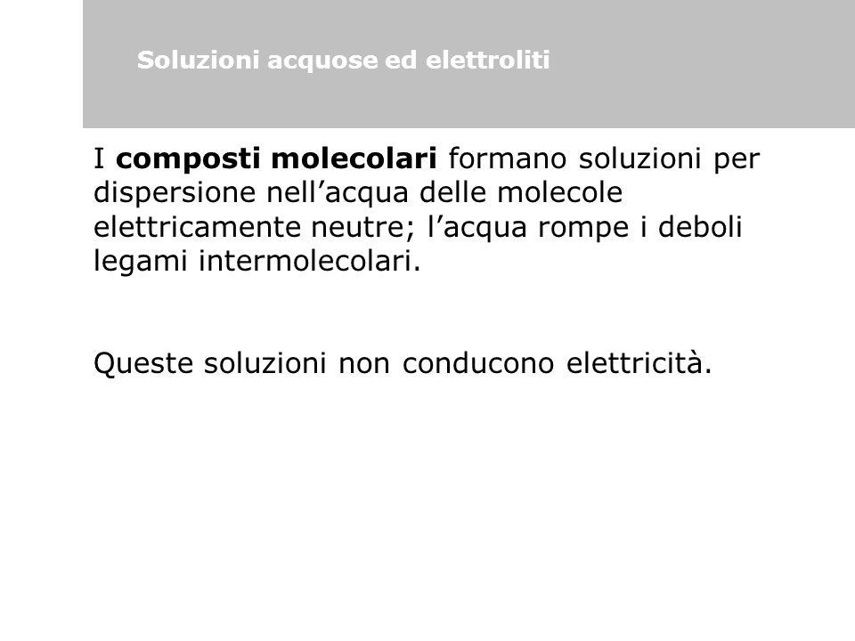 Soluzioni acquose ed elettroliti