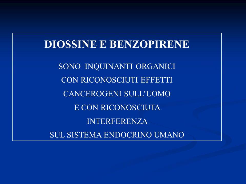 DIOSSINE E BENZOPIRENE