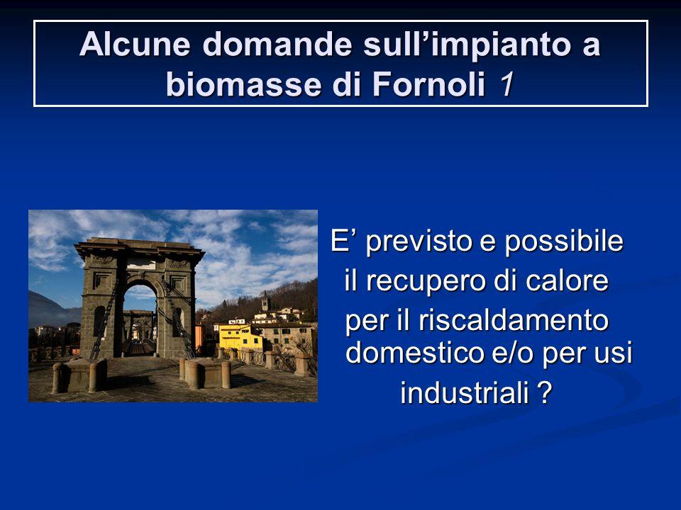 Alcune domande sull'impianto a biomasse di Fornoli 1