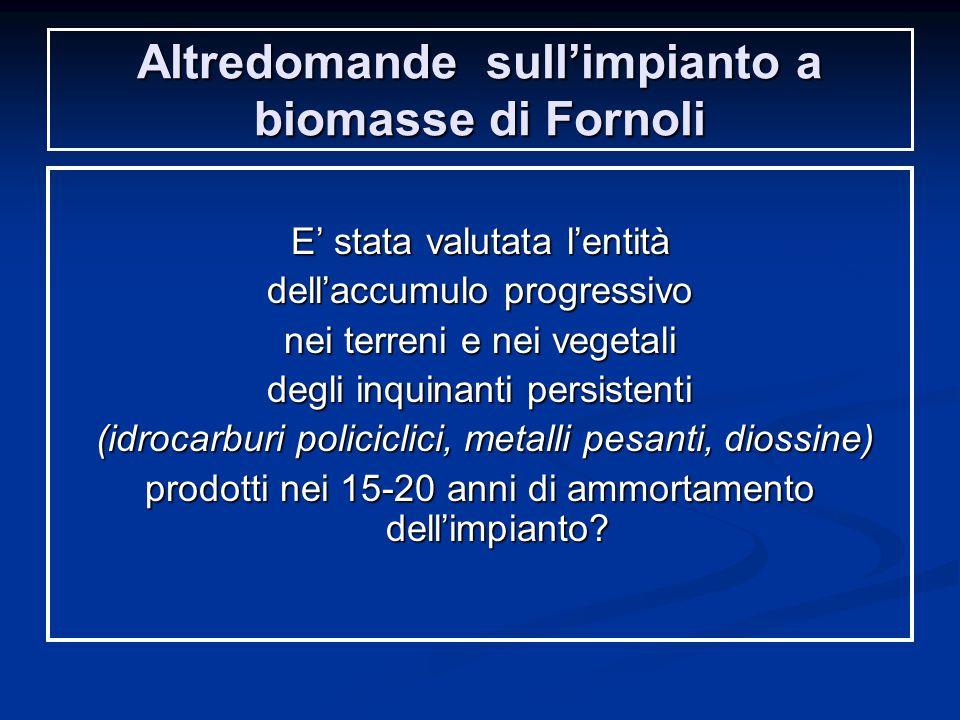 Altredomande sull'impianto a biomasse di Fornoli