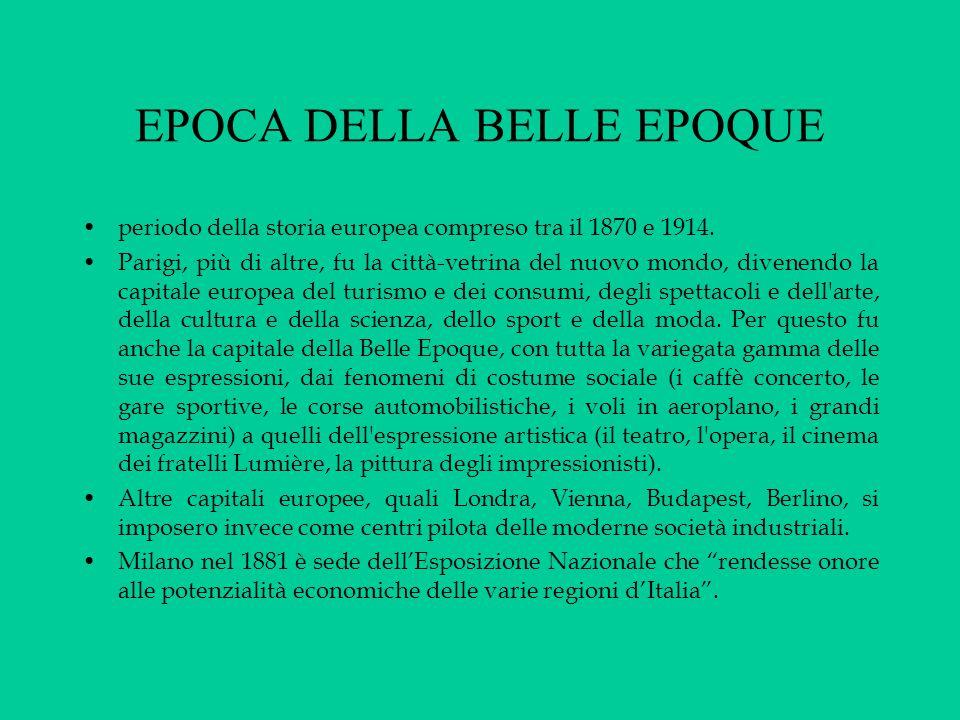 EPOCA DELLA BELLE EPOQUE