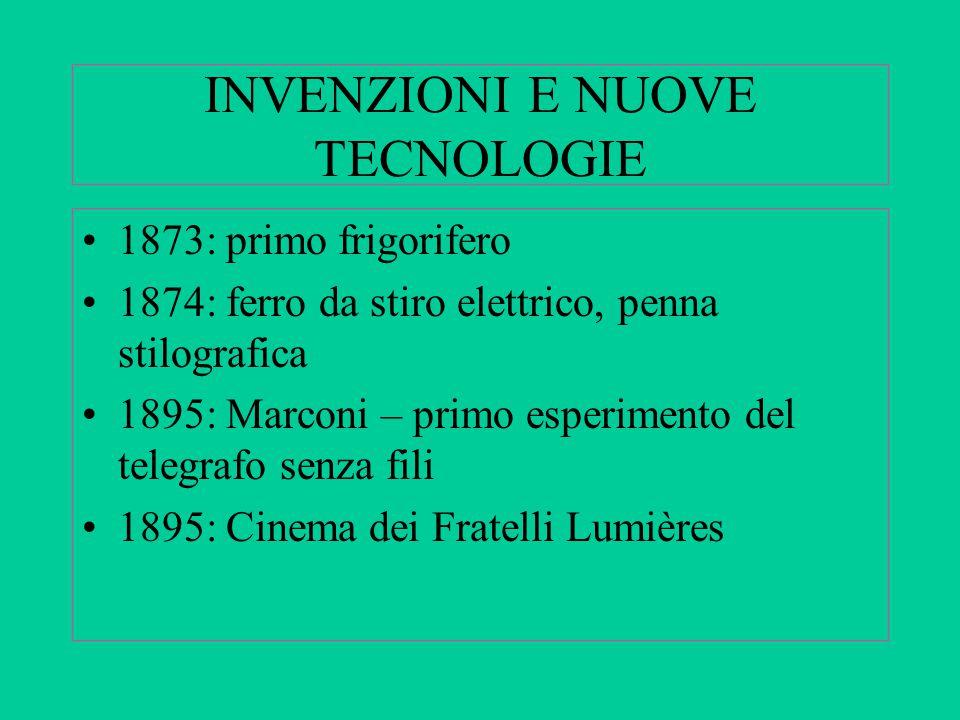 INVENZIONI E NUOVE TECNOLOGIE