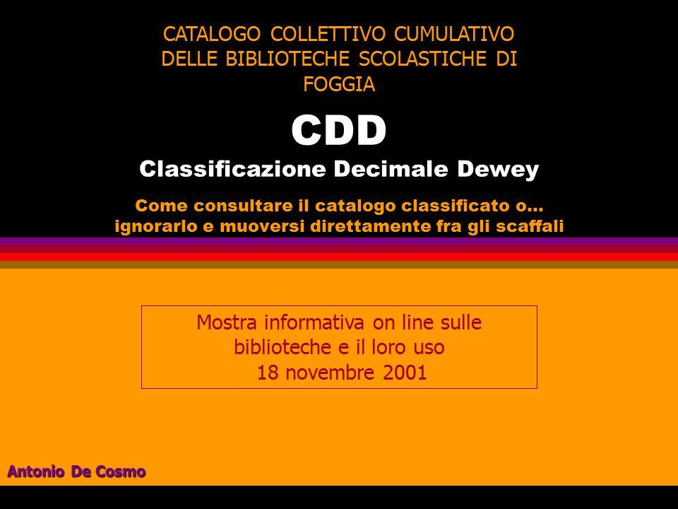 CDD Classificazione Decimale Dewey