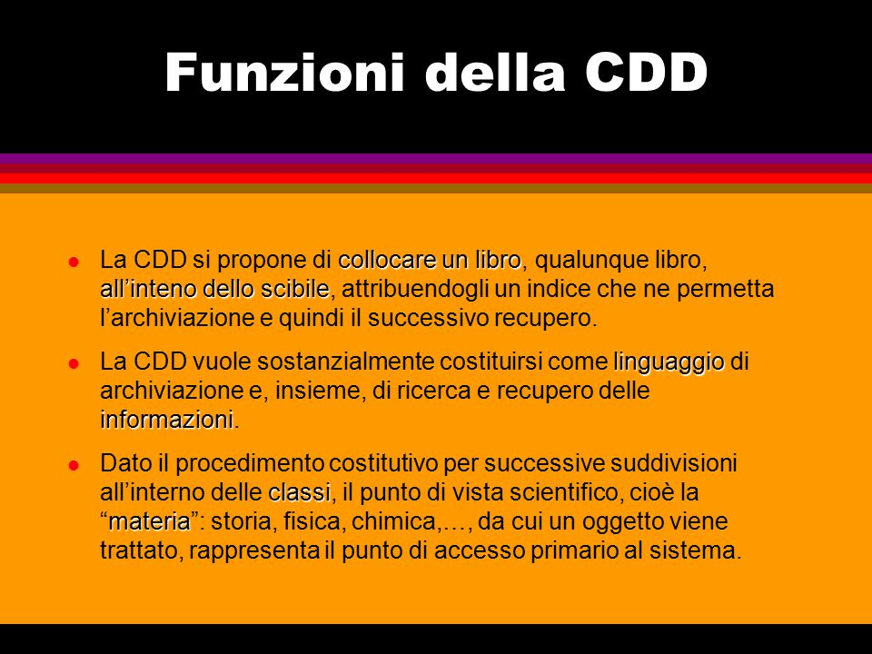 Funzioni della CDD