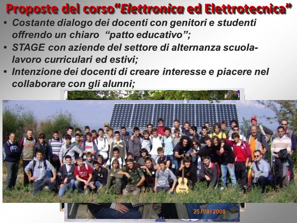 Proposte del corso Elettronica ed Elettrotecnica