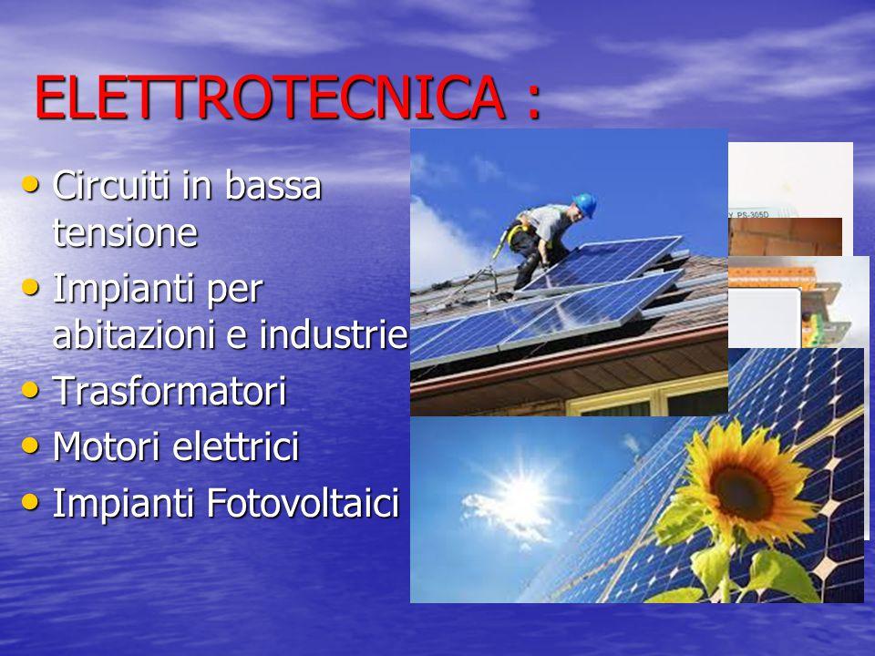 ELETTROTECNICA : Circuiti in bassa tensione