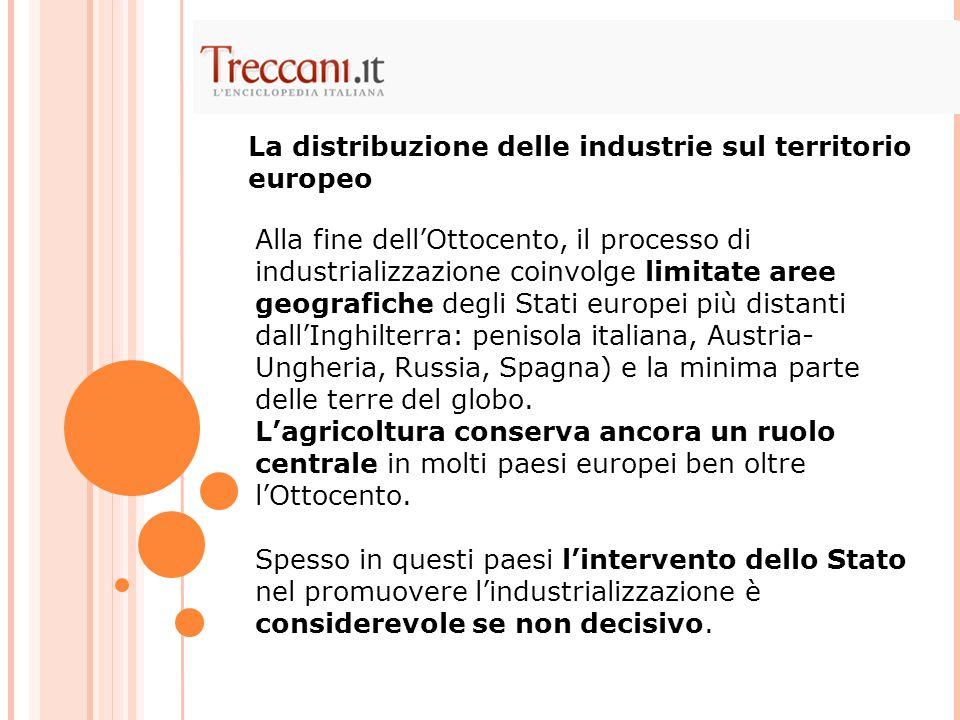 La distribuzione delle industrie sul territorio europeo