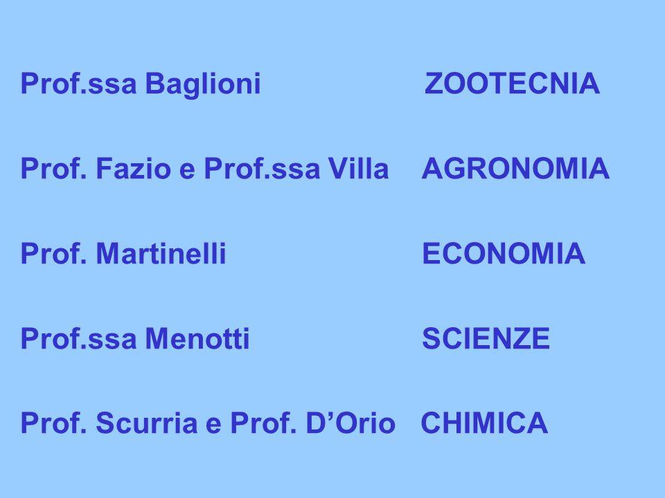 Prof.ssa Baglioni ZOOTECNIA