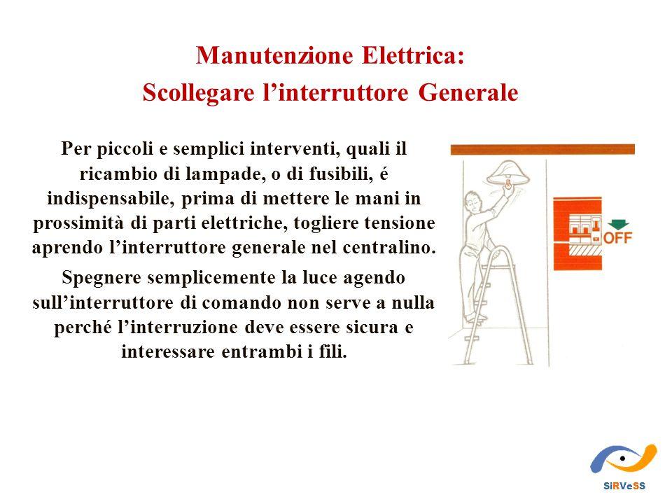 Manutenzione Elettrica: Scollegare l'interruttore Generale
