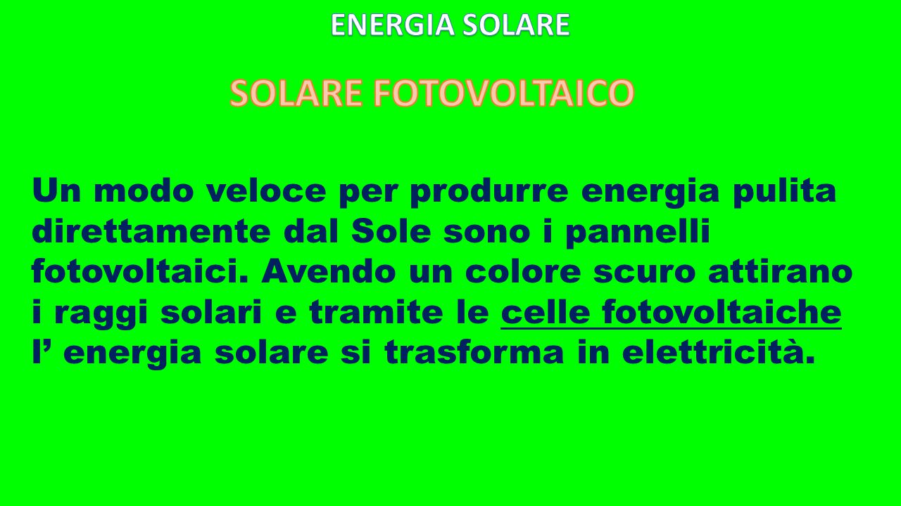 SOLARE FOTOVOLTAICO ENERGIA SOLARE