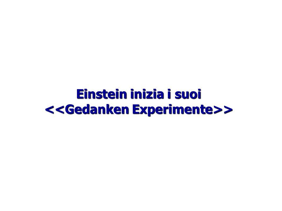 Einstein inizia i suoi <<Gedanken Experimente>>