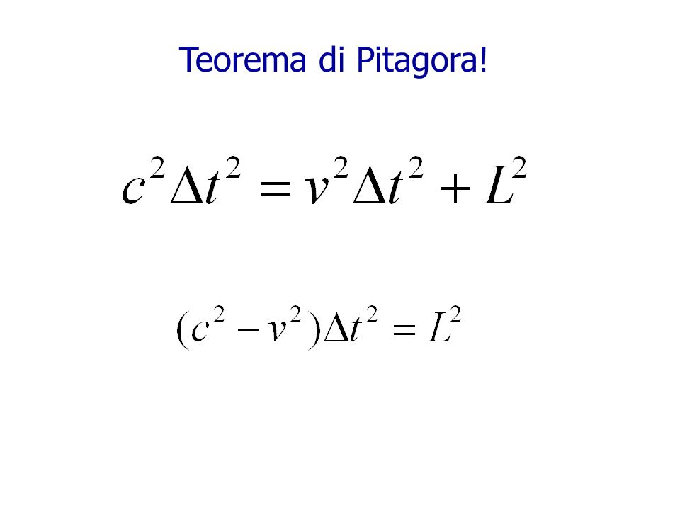 Teorema di Pitagora!