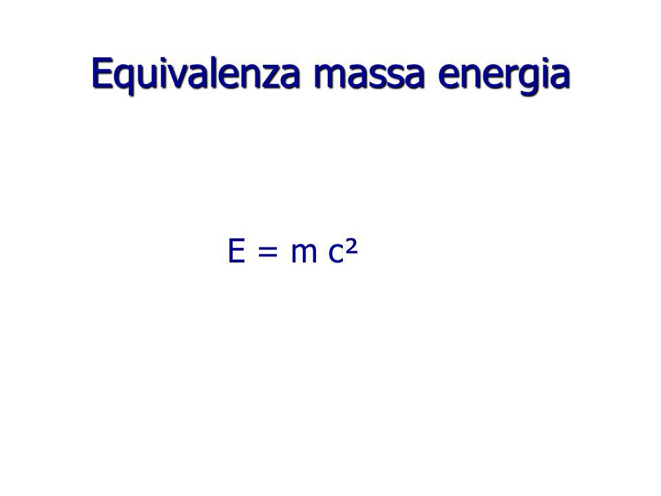 Equivalenza massa energia