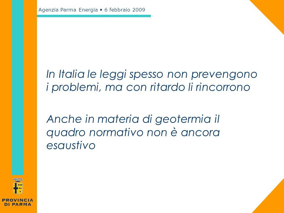 In Italia le leggi spesso non prevengono i problemi, ma con ritardo li rincorrono