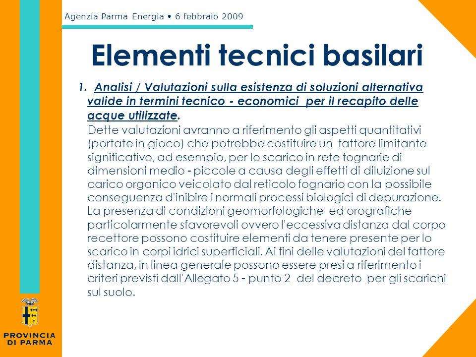 Elementi tecnici basilari