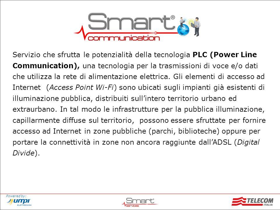 Servizio che sfrutta le potenzialità della tecnologia PLC (Power Line Communication), una tecnologia per la trasmissioni di voce e/o dati che utilizza la rete di alimentazione elettrica.
