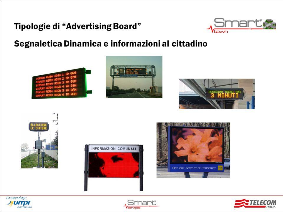Tipologie di Advertising Board Segnaletica Dinamica e informazioni al cittadino