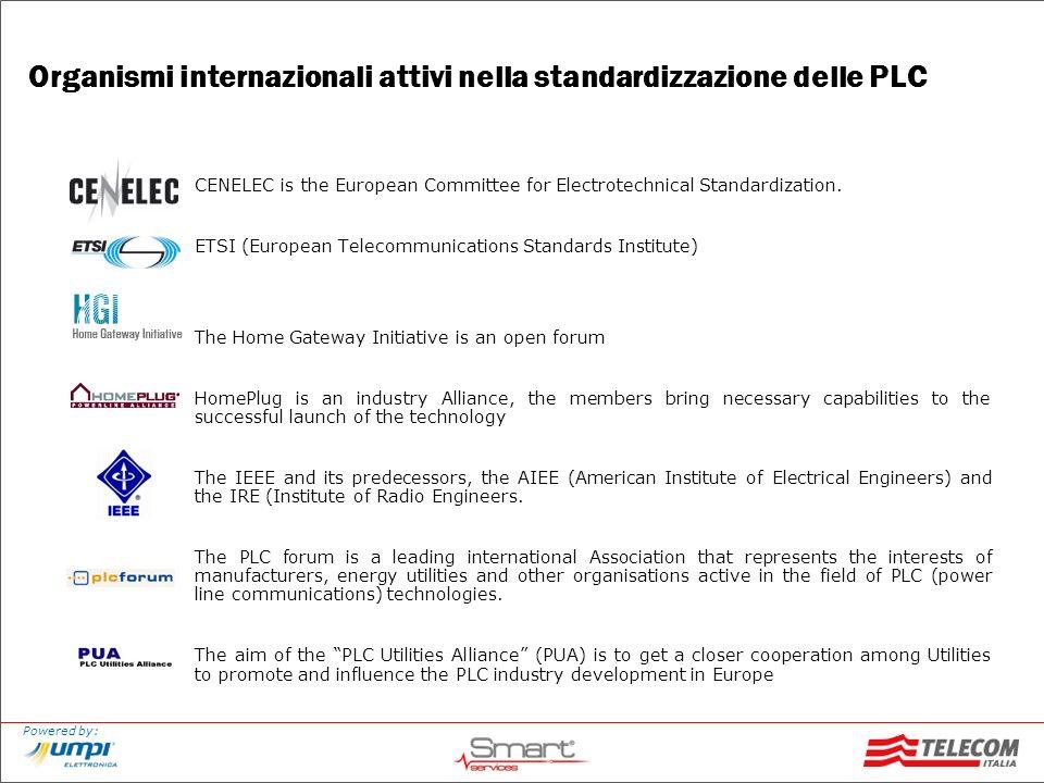 Organismi internazionali attivi nella standardizzazione delle PLC