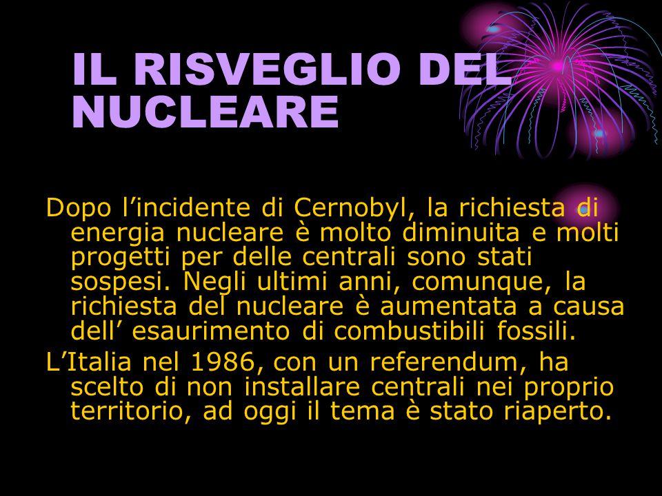 IL RISVEGLIO DEL NUCLEARE