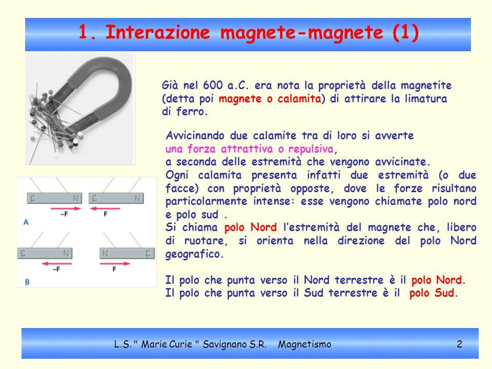 1. Interazione magnete-magnete (1)