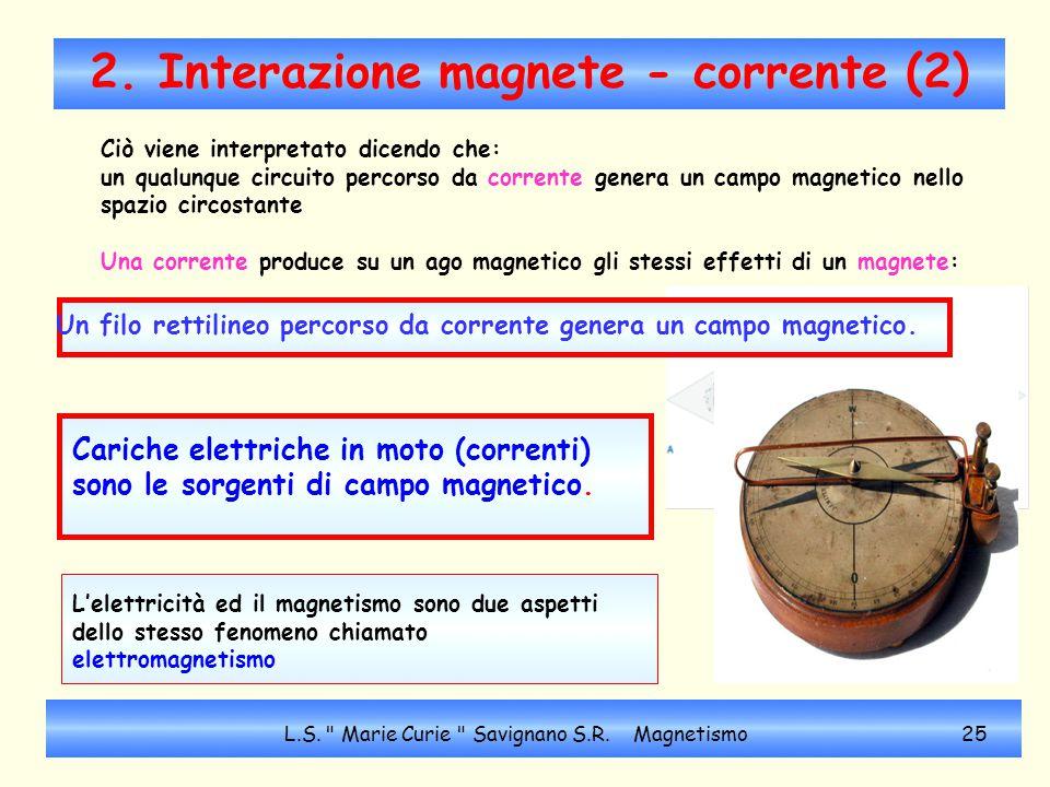 2. Interazione magnete - corrente (2)