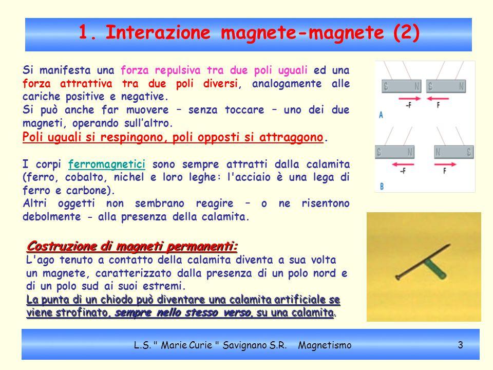 1. Interazione magnete-magnete (2)