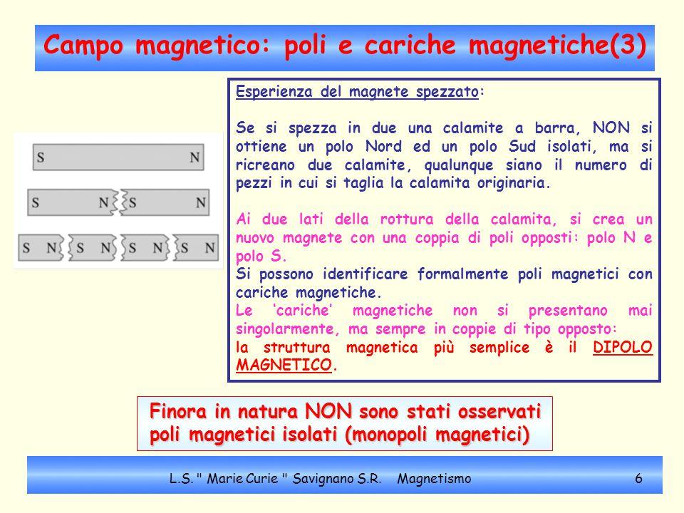 Campo magnetico: poli e cariche magnetiche(3)