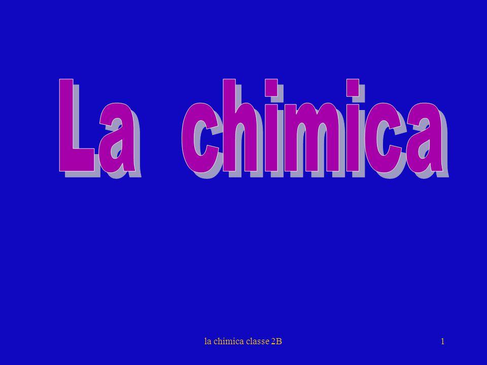 La chimica la chimica classe 2B 1