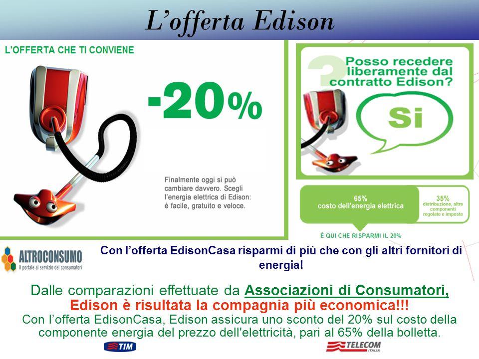 L'offerta Edison Con l'offerta EdisonCasa risparmi di più che con gli altri fornitori di energia!