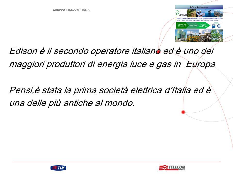 Edison è il secondo operatore italiano ed è uno dei maggiori produttori di energia luce e gas in Europa