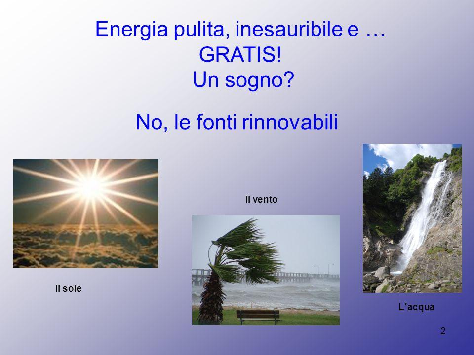 Energia pulita, inesauribile e … GRATIS!
