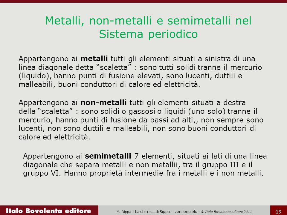 Metalli, non-metalli e semimetalli nel