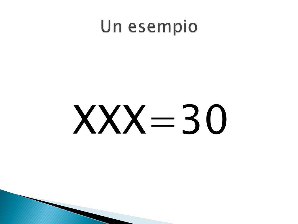 Un esempio XXX=30.