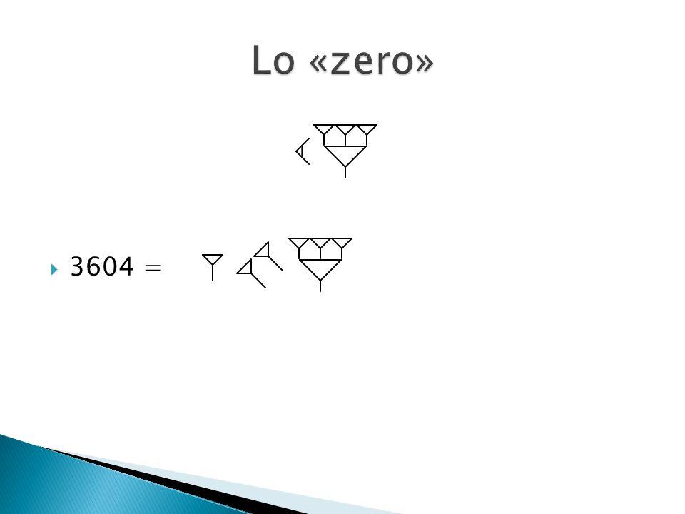 Lo «zero» 3604 =