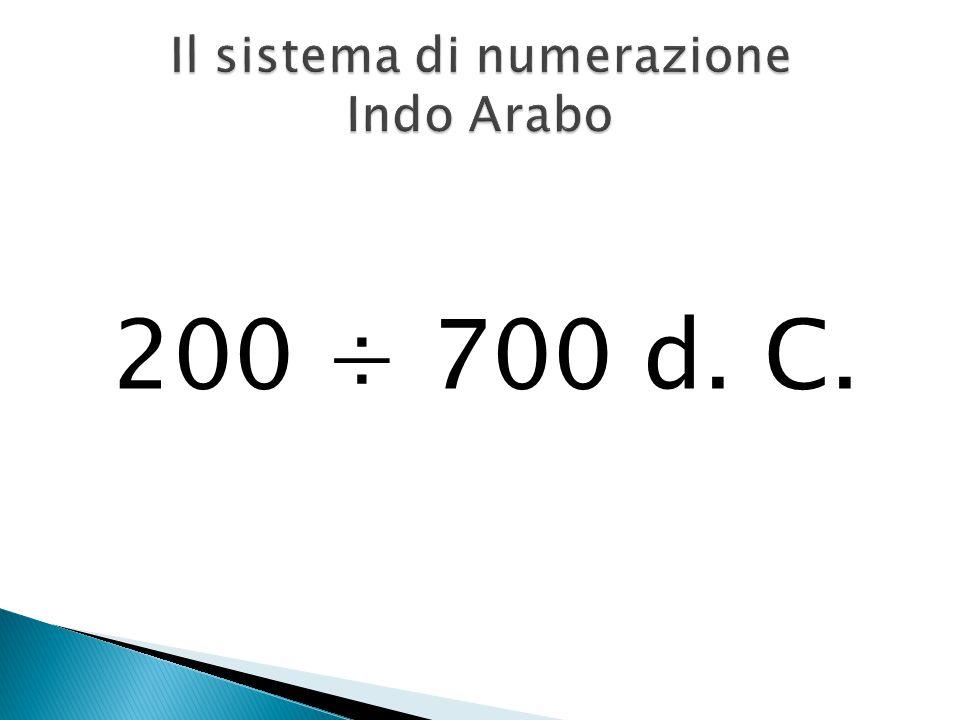Il sistema di numerazione Indo Arabo