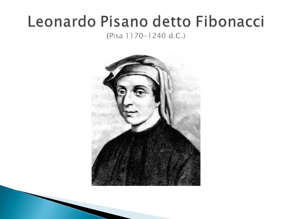Leonardo Pisano detto Fibonacci (Pisa 1170-1240 d.C.)