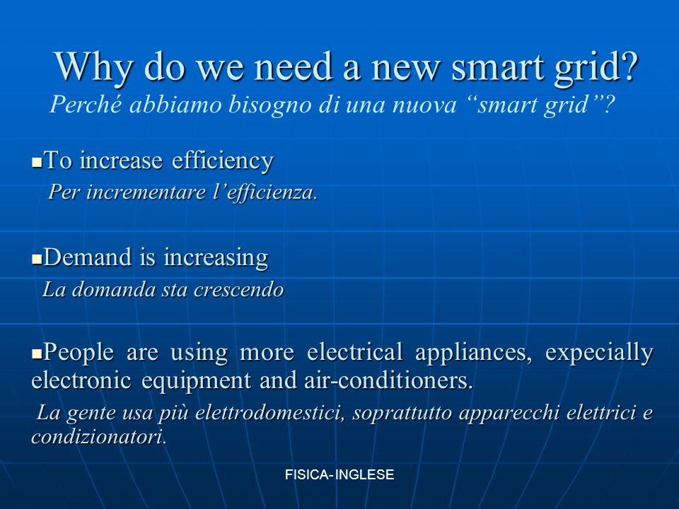 Why do we need a new smart grid